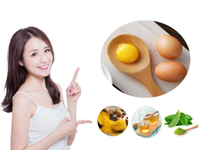 Cách sử dụng nghệ kết hợp với trứng gà làm mặt nạ